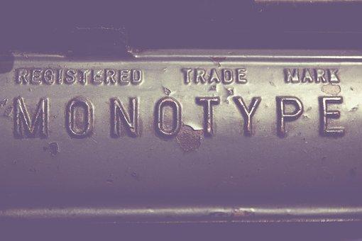 Monotype, Type, Letters, Pressure, Printer, Printing