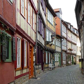 Resin, Halberstadt, Truss, Road, Architecture, Facade