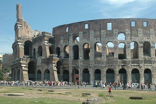 Acropolis, Rome, Italy, Architecture, Roman, Tourists