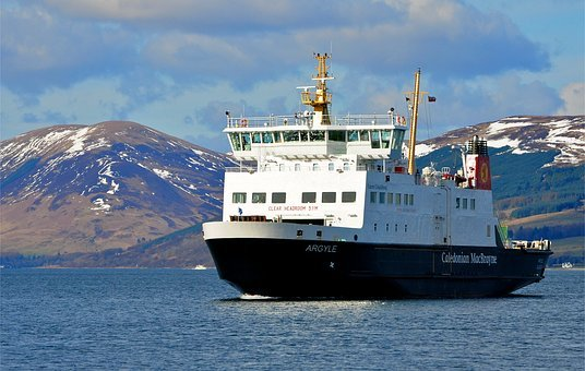 Car Ferry, Clyde Estuary, Cowal Hills, Rothesay Harbour