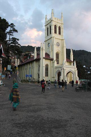 Shimla, Himachal, India, Mall Road, Church