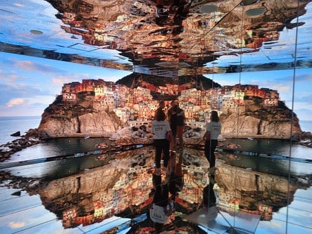 Made In Italy, Skyline, Mirror, Reflection, Tourism