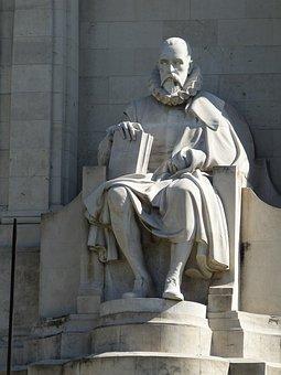 Cervantes, Madrid, Spain, Castile, Monument, Poet, Man