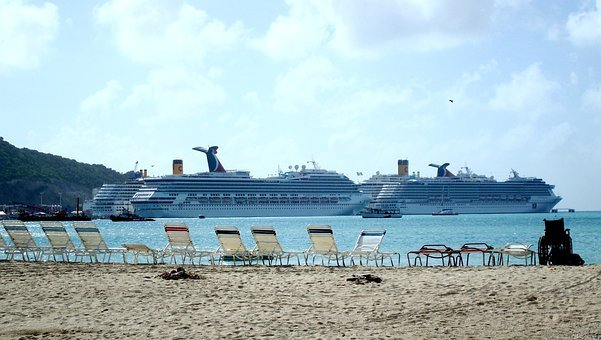 Caribbean, St Maarten, Sea, Beach, Cruise, Ship