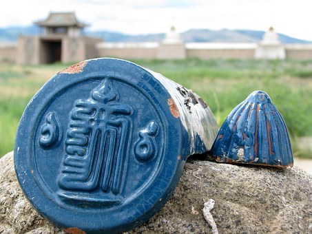 Tile, Temple, Buddhism, Choch Catfish, The Blue Temple