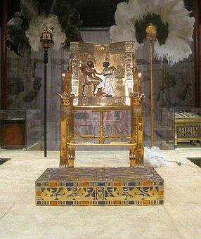 Throne, Gold, Opulent, King, Historic, Egyptian