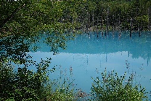 Lake, Blue Lake, Blue Water, Akan National Park