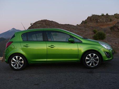 Auto, Opel, Opel Corsa, Corsa, Green, Grass Green
