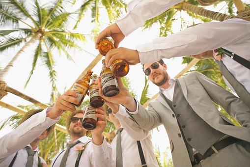 Men, Beers, Cheers, Toast, Bottles, Beer Bottles