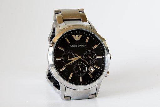Clock, Time, Armani Men's Watches, Fashion, Goods
