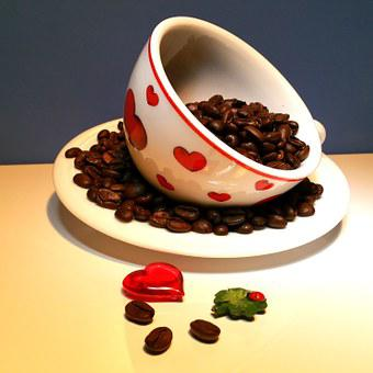 Valentine's Day, Heart, Ladybug, Cup, Coffee, Love