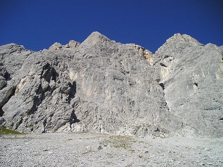Scree, Gravel, Drusenfluh, Mountains, Rätikon, Climb