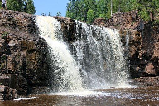 Gooseberry Falls, Waterfalls, Usa, Minnesota