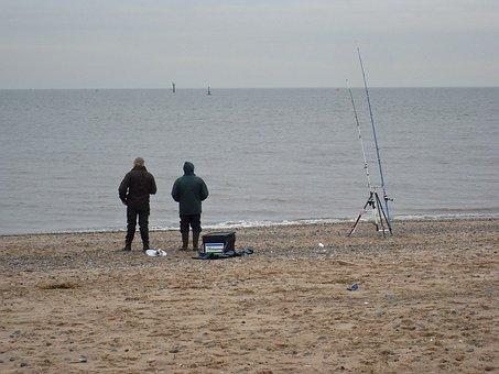 Cold, Weather, Winter, Harsh, Sea, Beach, England, Rod
