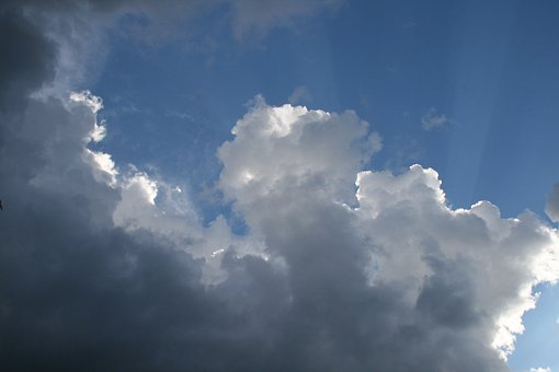 Clouds, Blue Sky, Light, Backlight, Light On Edges