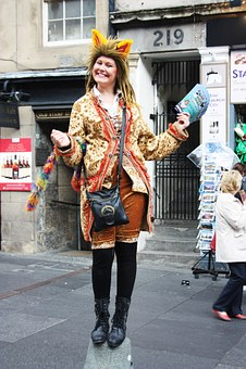 Girl, Festival, Dress, Humor, Fun, Smiling, Pose, Fete
