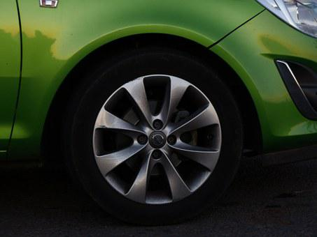Rim, Mature, Wheel, Front, Auto, Green, Grass Green