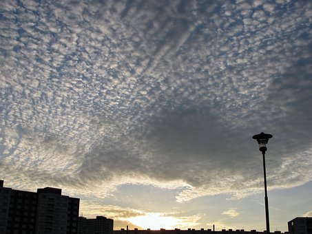 Cirrus, Clouds, Sunset, Sundown, Sky, Cirrocumulus