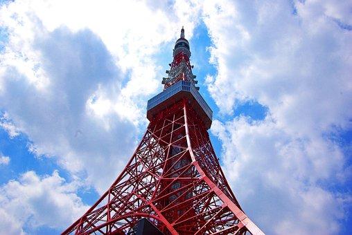 Japan, Tokyo, Tower, Landmark, Tourist Attraction