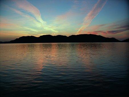 Sunrise, Deck, Blue, Travel, The, Turkish, Aegean Sea