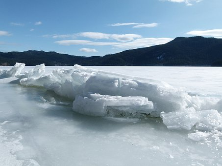 Sheet Of Ice, Winter, Frozen, Lake, Cold, Snow