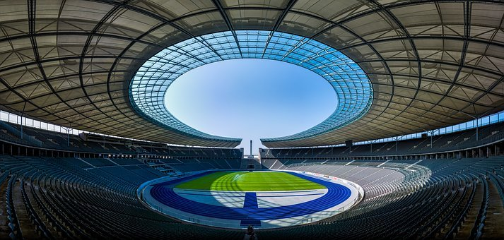 Architecture, Bleachers, Stadium, Empty, Field