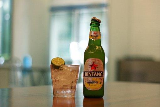Alcohol, Beer, Beer Bottle, Beverage, Bintang Beer