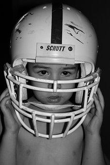 Football, Boy, Helmet, Child, Fun, Football Game