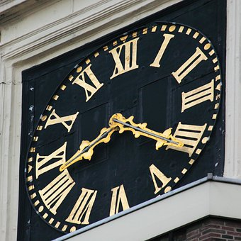 Architecture, Big, Building, Clock, Large, Street, Time
