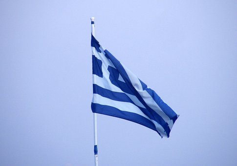 Greece, Flag, Greek, Nation, National, Country, Symbol