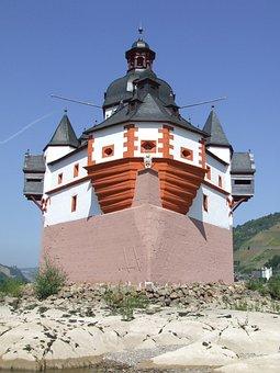 Rhine, Castle, Pfalzgrafenstein, Customs, Palatinate
