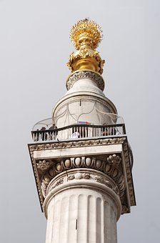 Monument, Great, Fire, London, Doric Column