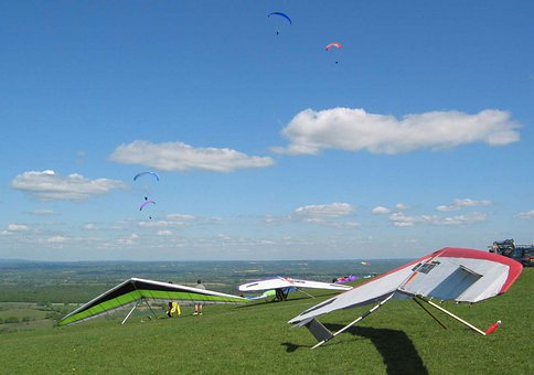 Hang, Glider, Devils, Brighton, Sussex, Downs