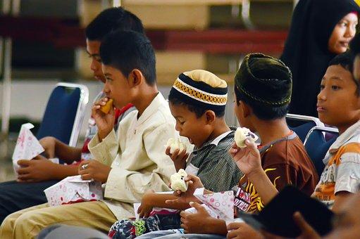 Kids, Child, Children, Eat, Boy, Muslim, Islamic, Islam