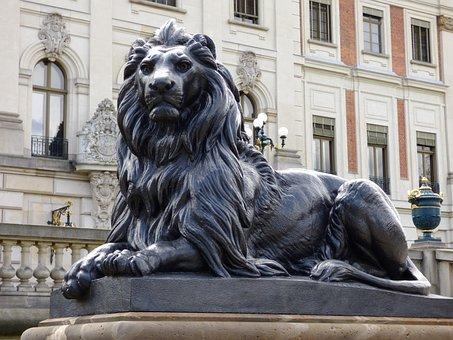 Lion, The Statue, Sculpture, Castle, Poland, Pszczyna