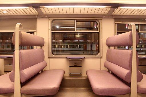Passenger Car, Train, Subway, Mass Transit, Interior