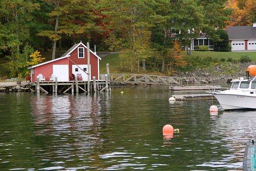 Maine, Fishing Village, Fishing, Harbor, New England