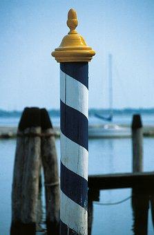 Bank, Promenade, Port, Lake, Sea, Pier, Piles, Dolphin
