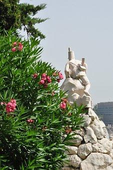 Portugal, Cascais, Monument, Fugitive, Soldier, Stone