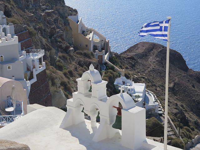 Santorini, Church, Greece, The National Flag