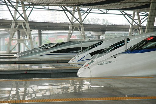 Railway, China, Transportation, Train, Travel, Station