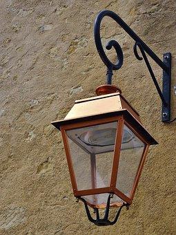 Chandelier, Lamp, Floor Lamp, Light, Village, Forged