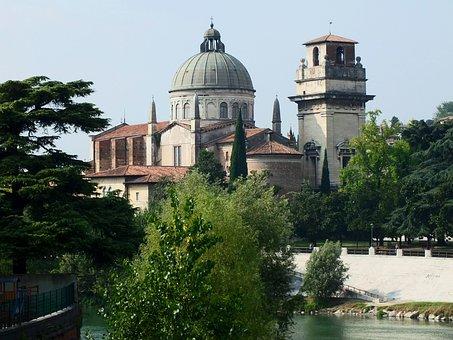Verona, San Giorgio, Braida, Church, Italy, Dome