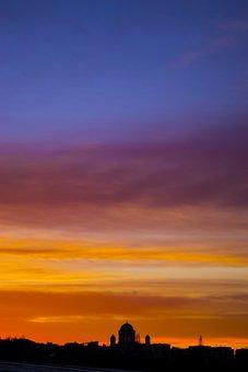 Sunset, Basilica, Esztergom, Church, Sky, Color