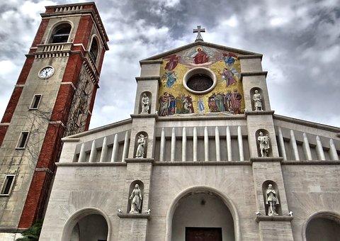 Church, Steeple, Tuscany, Lucca, Viareggio, Cross