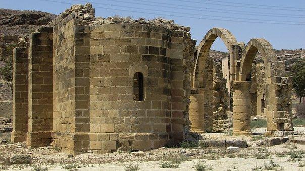 Cyprus, Ayios Sozomenos, Church, Gothic, Village