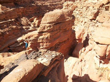 Egypt, Sinai, Desert, Canyon, Landscape, Wilderness