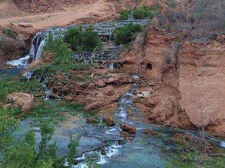Waterfalls, Flowing, Rivers, Streams, Creeks, Dry