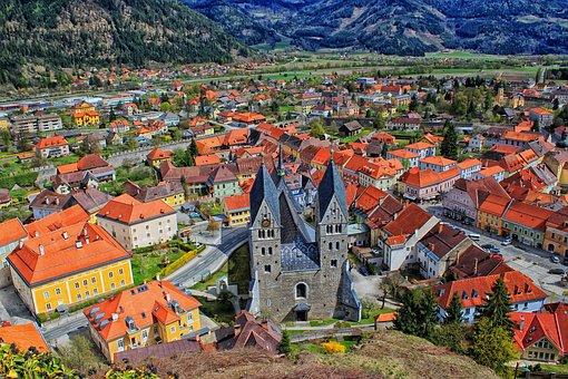 Friesach, Austria, Church, Cathedral, City, Town, View