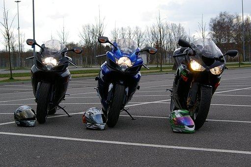 Motorcycles, Suzuki, Kawasaki, Two Wheeled Vehicle